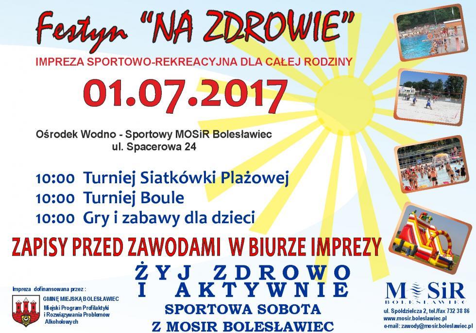 """""""OTWARCIE SEZONU – LATO 2017 """" na Ośrodku Wodno-Sportowym przy ul. Spacerowej"""