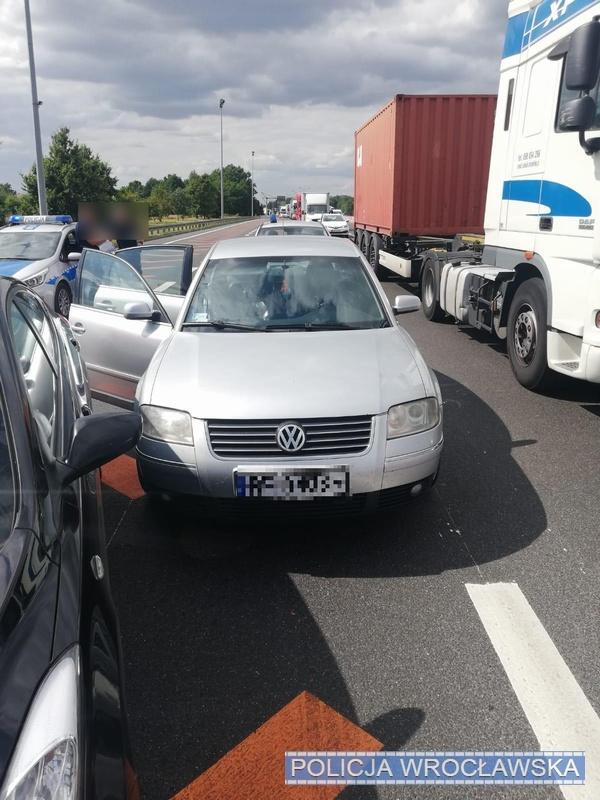 Policyjny pościg na autostradzie A4