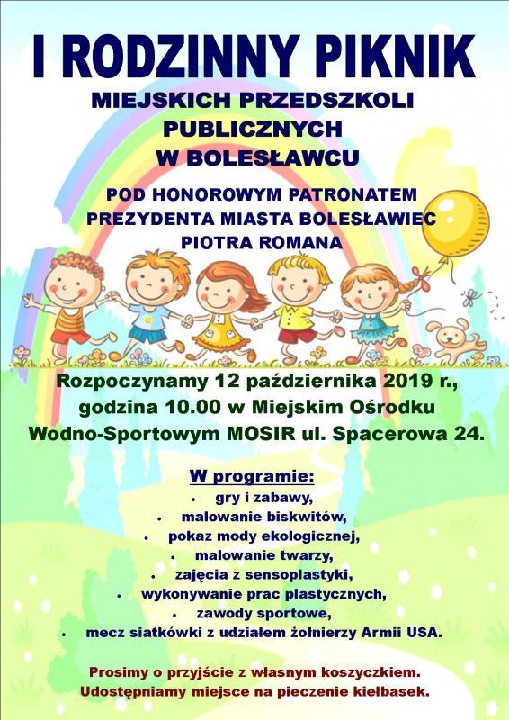 Rodzinny Piknik Miejskich Przedszkoli Publicznych