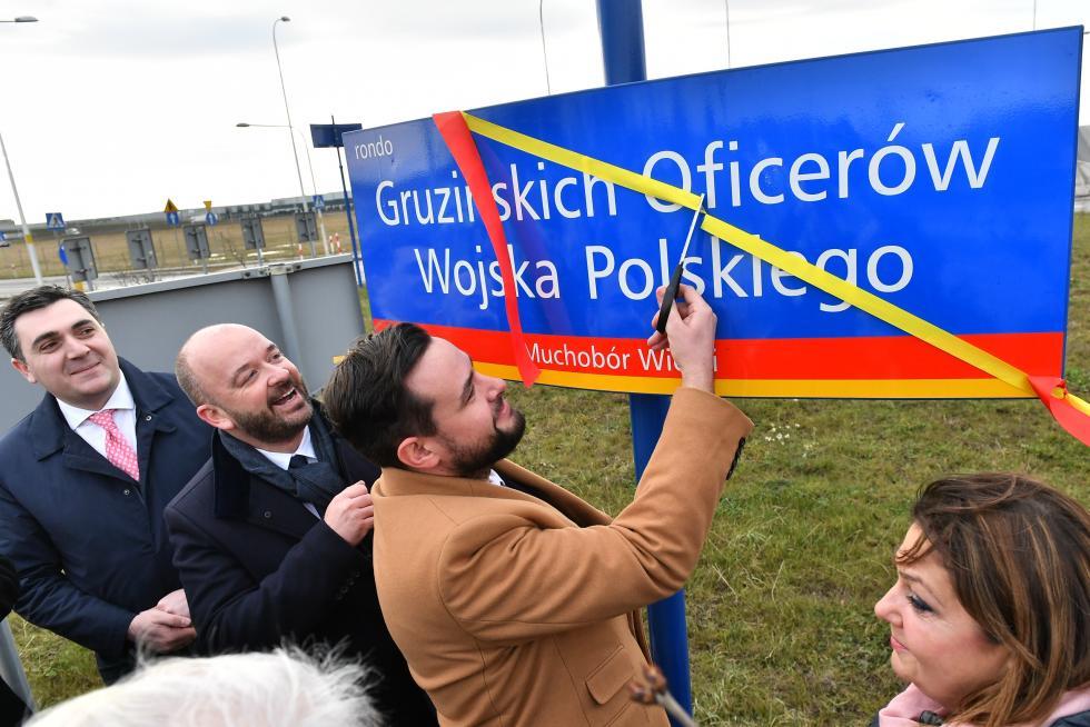 Otwarcie Ronda im. Gruzińskich Oficerów Wojska Polskiego